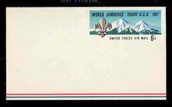 U.S. Scott # UXC  7 1967 6c World Buy Scout Jamboree - Mint Postal Card