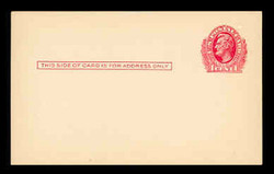 U.S. Scott # UX  23, 1911 1c Abraham Lincoln, red on cream - Mint Postal Card