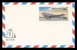 U.S. Scott # UXC 24, 1988 36c DC3 - Mint Postal Card