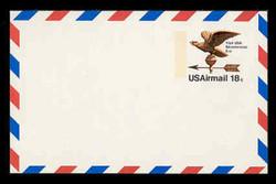 U.S. Scott # UXC 15, 1974 18c Eagle Weather Vane - Mint Postal Card, DULL PAPER