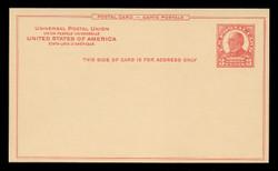 U.S. Scott # UX  37/UPSS #S53a-1, 1926 3c William McKinley, carmine on buff - Mint Postal Card
