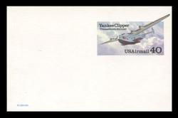 U.S. Scott # UXC 25, 1991 40c Yankee Clipper Transatlantic Airmail - Mint Postal Card