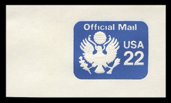 "U.S. Scott # UO 074a 1985 22c Official Mail, ""Tagged"" - Mint Cut Square"
