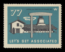 Associated Oil Company Poster Stamps of 1938-9 - # 77, Mission San Francisco de Solano