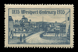 1935 (001) Centenary of Westport, Connecticut Poster Stamps