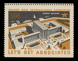Associated Oil Company Poster Stamps of 1938-9 - #104, Federal Building