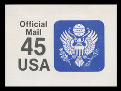 U.S. Scott # UO 081 1990 45c Official Mail, small lettering clear - Mint Cut Square