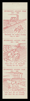 1961 (001) Riverbank, California's Golden Year Booklet Pane - Red on White with Dull Gum