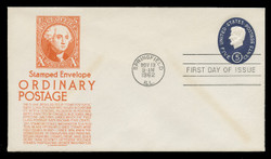 U.S. Scott #U544 5c Lincoln Envelope First Day Cover.  Anderson cachet, ORANGE variety.
