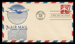 U.S. Scott #UC36 8c Jet Envelope First Day Cover.  Anderson cachet, BLUE variety.
