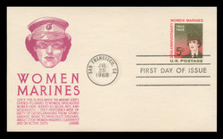 U.S. Scott #UX56 5c Women Marines Postal Card First Day Cover.  Anderson cachet, VIOLET variety.
