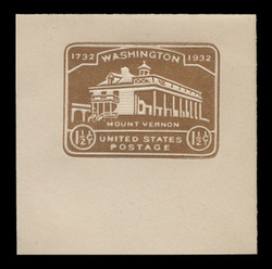 U.S. Scott # U 524, 1932 1½c Washington Bicentennial - Mint Full Corner