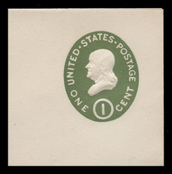 U.S. Scott # U 532, 1950 1c Franklin, Die 1 - Mint Full Corner