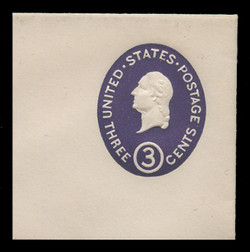 U.S. Scott # U 534a, 1950 3c Washington, Die 1 - Mint Full Corner