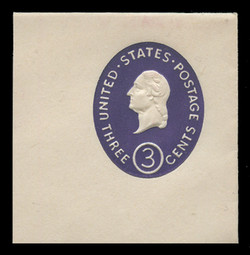 U.S. Scott # U 534b, 1950 3c Washington, Die 2 - Mint Full Corner
