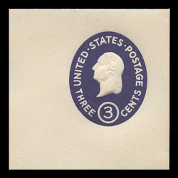 U.S. Scott # U 534d, 1950 3c Washington, Die 5 - Mint Full Corner