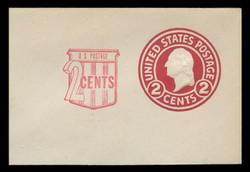 U.S. Scott # U 537, 1958 2c (U429) + 2c Washington, Die 1 - Mint Full Corner