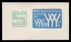 U.S. Scott # U 562, 1971 6c (U555) + 2c White House Conference on Youth - Mint Full Corner