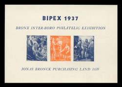 1937 BIPEX Philatelic Exhibition Souvenir Sheets - Imperforate