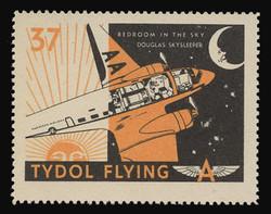 "Tydol Flying ""A"" Poster Stamps of 1940 - #37, Douglas Skysleeper - Bedroom in the Sky"