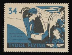 "Tydol Flying ""A"" Poster Stamps of 1940 - #34, Airplane Stewardess Hazel Brooks"