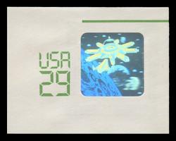 U.S. Scott # U 625 1992 29c Space Shuttle & Station Hologram - Mint Full Corner