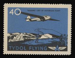 "Tydol Flying ""A"" Poster Stamps of 1940 - #40, ""Soaring"" - Art of Motorless Flight"