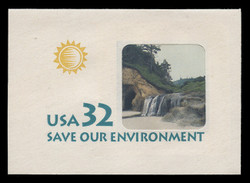 U.S. Scott # U 640 1996 32c Save Our Environment - Mint Full Corner
