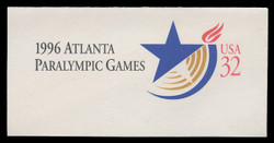 U.S. Scott # U 641 1996 32c 1996 Atlanta Paralympic Games - Mint Full Corner