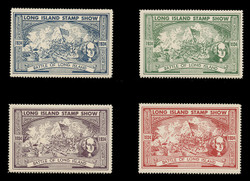 1934 Long Island Stamp Show, Perforated -  Set of 4
