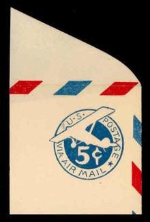 U.S. Scott # UC  1 1929 5c Plane, Blue Background, Die 1, Border b(2) - Mint Full Corner (See Warranty)