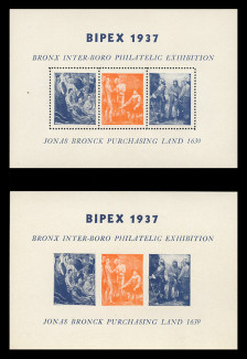 1937 BIPEX Philatelic Exhibition Souvenir Sheets -   Set of 2