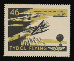 "Tydol Flying ""A"" Poster Stamps of 1940 - #46, Seaplanes - For Long the Fastest"