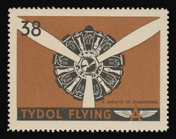 """Tydol Flying """"A"""" Poster Stamps of 1940 - #38, A Miracle of Engineering"""