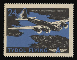 "Tydol Flying ""A"" Poster Stamps of 1940 - #24, America's Flying Fortresses - Boeing B17"