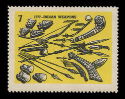 Chicagoland Poster Stamps of  1938 - #  7 Indian Weapons, 1777