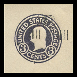 U.S. Scott # U 468d, 1920-1 2c on 3c (U436a) Washington, dark violet on white, Die 1 - Double Surcharge Error - Mint Cut Square