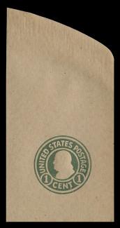 U.S. Scott # U 425, 1915-32 1c Franklin, green on manila, Die 1 - Mint Full Corner