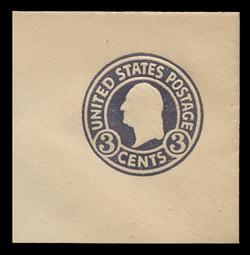 U.S. Scott # U 436a, 1915-32 3c Washington, dark violet on white, Die 1 - Mint Full Corner