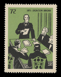 Chicagoland Poster Stamps of  1938 - # 72 Deacon Bross, 1871