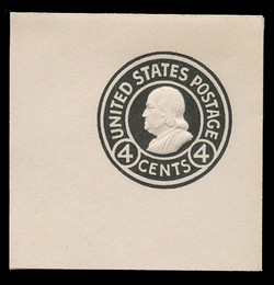 U.S. Scott # U 440, 1915-32 4c Franklin, black on white, Die 1 - Mint Full Corner