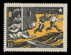 Chicagoland Poster Stamps of  1938 - # 13 Hardscrabble, 1805