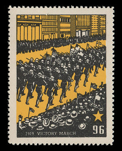 Chicagoland Poster Stamps of  1938 - # 96 Victory March, 1919