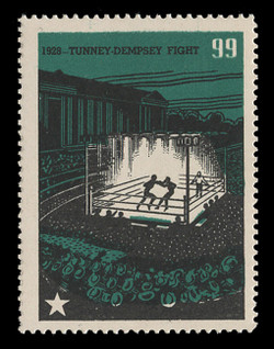 Chicagoland Poster Stamps of  1938 - # 99 Tunney-Dempsey Fight, 1928