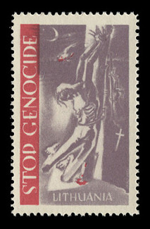 1953 (001) Stop (Communist) Genocide in Lithuania Poster Stamp
