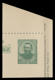 U.S. Scott # U 293, 1886 2c Grant Full Corner from Letter Sheet - Mint Full Corner