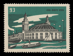 Chicagoland Poster Stamps of  1938 - # 93 Navy Pier, 1916