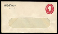 U.S. Scott # U 533, 1950 2c Washington, Die 3 - Mint Envelope, UPSS Size 10-WINDOW (See Warranty)