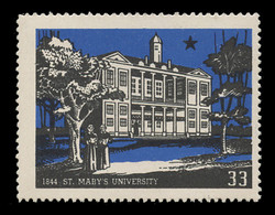 Chicagoland Poster Stamps of  1938 - # 33 St. Mary's University, 1844