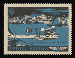 "Tydol Flying ""A"" Poster Stamps of 1940 - # 9, Wings Across the Atlantic - NC-4 - 1919"